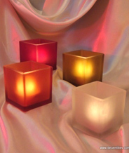 Frosted Candle Votive