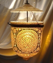 Hanging glass lamp hanging lamp shade hanging glass lamp mosaic work bell jar hanging aloadofball Choice Image