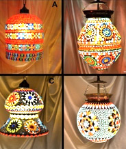 Different Mosaic Work Lamp