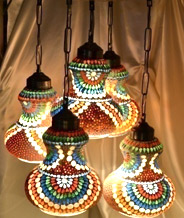 Moroccan Style 5 Light Hanging Chandelier